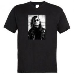 Мужская футболка  с V-образным вырезом Гражданская оборона