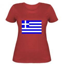 Женская футболка Греция - FatLine