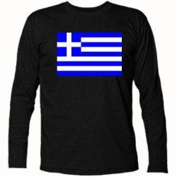 Футболка с длинным рукавом Греция - FatLine