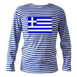 Тельняшка с длинным рукавом Греция - FatLine