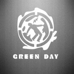 Наклейка Green Day Logo - FatLine