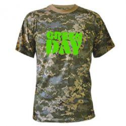 Камуфляжная футболка Green Day - FatLine