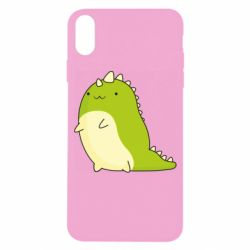 Чохол для iPhone X/Xs Green dinosaur