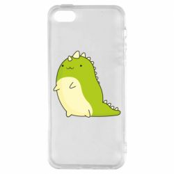 Чохол для iphone 5/5S/SE Green dinosaur