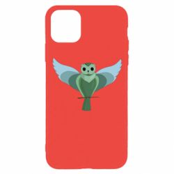 Чохол для iPhone 11 Pro Green graphic owl on a branch