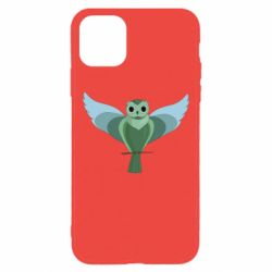 Чохол для iPhone 11 Pro Max Green graphic owl on a branch
