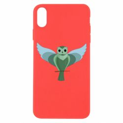 Чохол для iPhone X/Xs Green graphic owl on a branch
