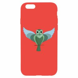 Чохол для iPhone 6/6S Green graphic owl on a branch