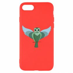 Чохол для iPhone 7 Green graphic owl on a branch