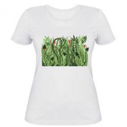 Женская футболка Green grass