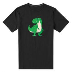 Чоловіча стрейчева футболка Green little dinosaur