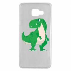 Чохол для Samsung A7 2016 Green little dinosaur