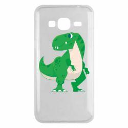 Чохол для Samsung J3 2016 Green little dinosaur