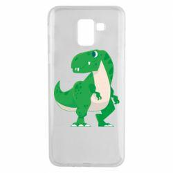 Чохол для Samsung J6 Green little dinosaur