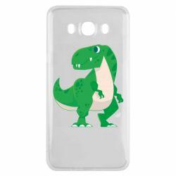 Чохол для Samsung J7 2016 Green little dinosaur