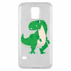 Чохол для Samsung S5 Green little dinosaur