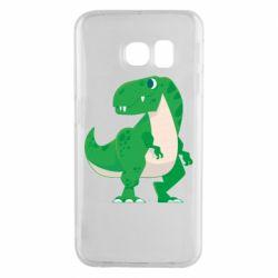Чохол для Samsung S6 EDGE Green little dinosaur