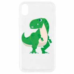 Чохол для iPhone XR Green little dinosaur