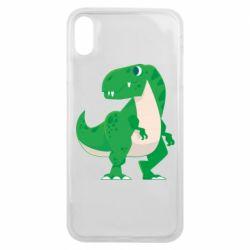 Чохол для iPhone Xs Max Green little dinosaur