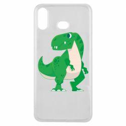 Чохол для Samsung A6s Green little dinosaur
