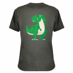 Камуфляжна футболка Green little dinosaur
