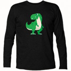 Футболка з довгим рукавом Green little dinosaur
