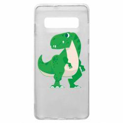 Чохол для Samsung S10+ Green little dinosaur