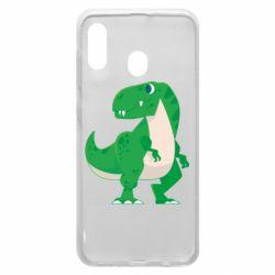 Чохол для Samsung A20 Green little dinosaur
