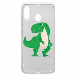 Чохол для Samsung A30 Green little dinosaur
