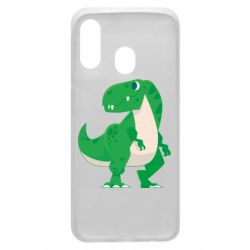 Чохол для Samsung A40 Green little dinosaur