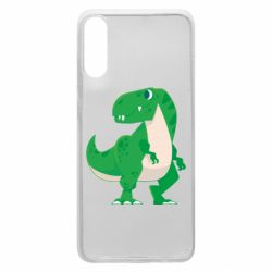 Чохол для Samsung A70 Green little dinosaur