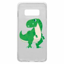 Чохол для Samsung S10e Green little dinosaur