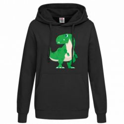 Толстовка жіноча Green little dinosaur