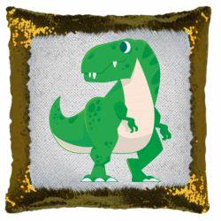 Подушка-хамелеон Green little dinosaur