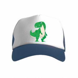 Дитяча кепка-тракер Green little dinosaur