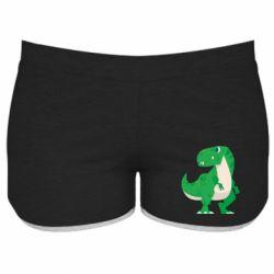 Жіночі шорти Green little dinosaur