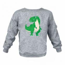 Дитячий реглан (світшот) Green little dinosaur