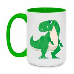 Кружка двоколірна 420ml Green little dinosaur