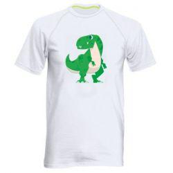 Чоловіча спортивна футболка Green little dinosaur
