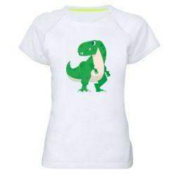 Жіноча спортивна футболка Green little dinosaur