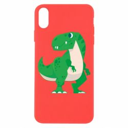 Чохол для iPhone X/Xs Green little dinosaur