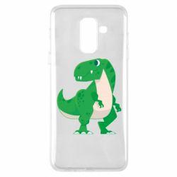 Чохол для Samsung A6+ 2018 Green little dinosaur