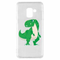 Чохол для Samsung A8 2018 Green little dinosaur
