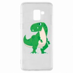 Чохол для Samsung A8+ 2018 Green little dinosaur