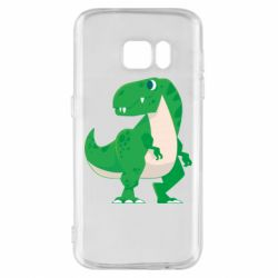 Чохол для Samsung S7 Green little dinosaur