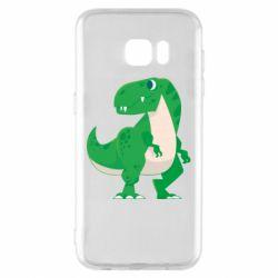 Чохол для Samsung S7 EDGE Green little dinosaur