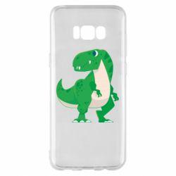 Чохол для Samsung S8+ Green little dinosaur