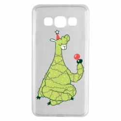Чехол для Samsung A3 2015 Green llama with a garland