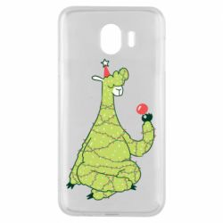 Чехол для Samsung J4 Green llama with a garland