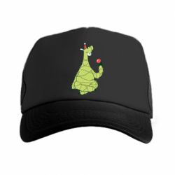 Кепка-тракер Green llama with a garland